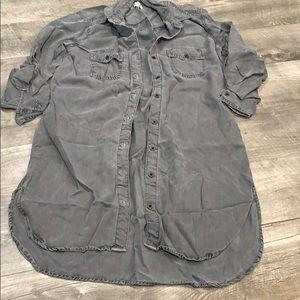 Sneak peek gray Jean dress size small